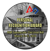 Personal Recognition Award