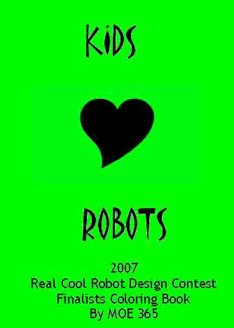 Kids Luv Robots Coloring book